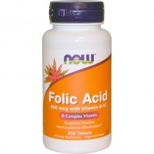Аминокислоты NOW Folic Acid 250 таблеток